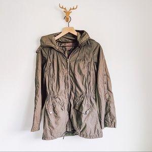Forever 21 Hooded Zipped Up Coat
